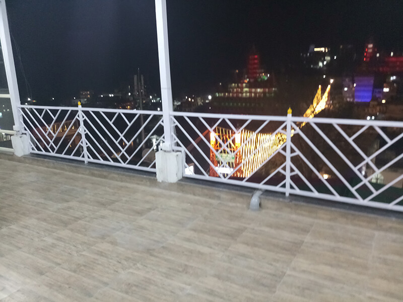 Roof top view of Laxman Jhula and Ganges